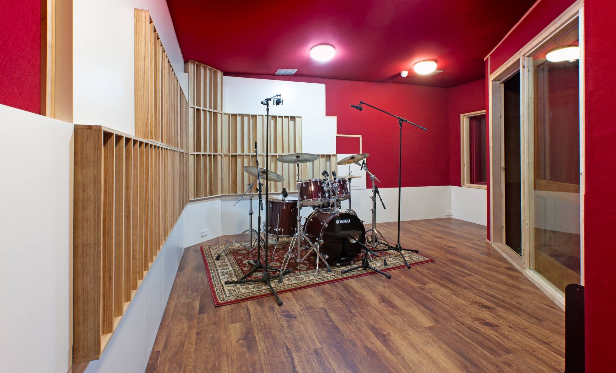 new drum booth in studio C